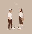 couple in love card vertical vector image