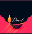 creative happy diwali diya design background vector image vector image