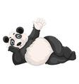 Cute panda waving hand vector image vector image