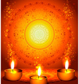Diwali Festival Design with Candles vector image