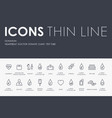 donation thin line icons vector image