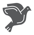 dove glyph icon animal and bird pigeon sign vector image vector image