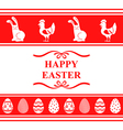 easter ornament red vector image vector image