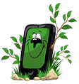 Ecology mobile phone vector image