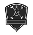 extreme skull emblem icon vector image vector image