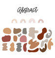flat liquid organic forms and badges collection vector image