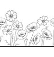 floral garland of wild flowers vector image vector image