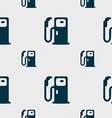 Fuel icon sign Seamless pattern with geometric vector image vector image