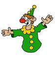 Funny green goof vector image