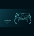 futuristic with joystick game controller or vector image