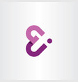 g and j letter gj logo icon purple symbol vector image vector image