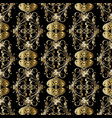 gold baroque seamless pattern golden vector image vector image