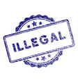 grunge textured illegal text stamp seal vector image