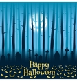 Halloween cemetery in moonlight vector image