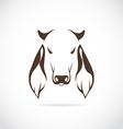 image of cow head vector image vector image