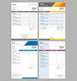 invoice bills service money agreement vector image vector image