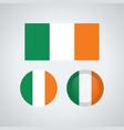 irish trio flags vector image