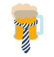isolated beer with a necktie icon vector image vector image