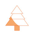 isolated cute tree vector image