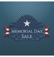 Memorial Day Sale greeting Poster and Ribbon vector image vector image