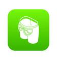 modern back pocket icon green vector image vector image