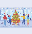 new year or christmas celebration at work or home vector image vector image