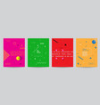 olored covers with minimal design and geometric vector image vector image