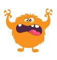 orange monster vector image vector image