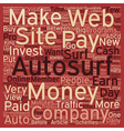 Paid Autosurf For Cash Make Money In Minutes A Day vector image vector image