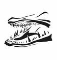 pike fish jaws vector image vector image