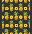 pineapple geometric seamless pattern vector image vector image