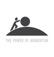 power of momentum vector image vector image