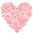 red heart isolated on a white background vector image vector image
