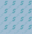 seamless pattern green leaves on a blue vector image vector image