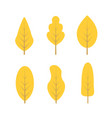 set autumn trees vector image