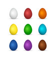 set easter eggs all colors rainbow vector image