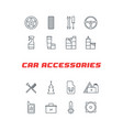 set of car accessories line icons vector image vector image