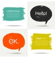 Set of grunge speak bubbles vector image