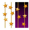 Set of shiny golden chains vector image