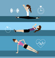 set women healthy lifestyle to do exercise vector image vector image