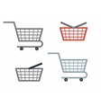 Shopping Cart and Basket vector image vector image