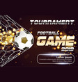 soccer or football banner with 3d ball on vector image vector image