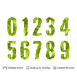 spring green bright numbers set vector image vector image