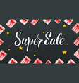 super sale gift boxes with red ribbons and bows vector image vector image