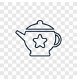 teapot concept linear icon isolated on vector image
