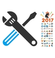 Tools Icon With 2017 Year Bonus Pictograms vector image vector image