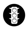 traffic lights icon design vector image