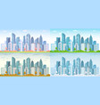 urban city seasons spring town summer autumn vector image