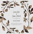 watercolor floral vintage wedding invitation card vector image vector image