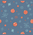 winter seamless pattern with festive red ornaments vector image vector image